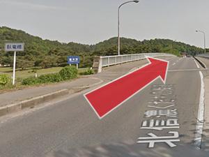 4.北信濃くだもの街道を道なりに進み、途中「臥竜橋」を渡りさらに進む