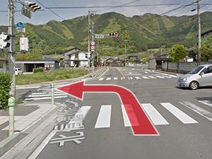 5.「坂田町」交差点を左折し国道406を道なりに進む